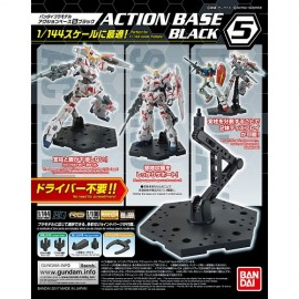 New Gundam Action Base Black 5 Display Stand Japan SOCLE