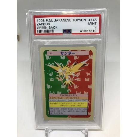 POKEMON 1995 japanese PSA9 topsun moltres green back sulfura
