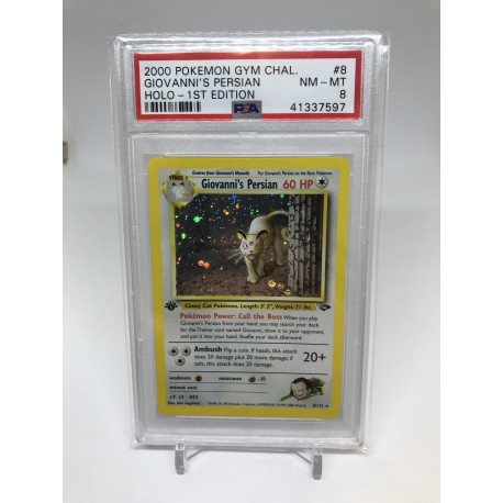 POKEMON 2000 PSA9 gym challenge 8/132 giovanni s persian 1st holo