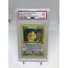 POKEMON 2000 PSA9 promo meowth holo game boy blackstar miaous