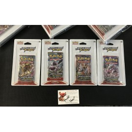 POKEMON LOT 4 BLISTERS BOOSTERS PRIMO CHOC XY