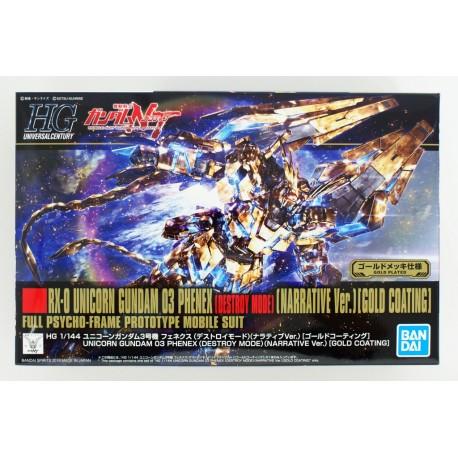 Bandai HGUC 213 Unicorn Gundam 03 Phenex Destroy Mode Narrative Ver. 1/144 Kit