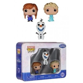 [PRECO] La Reine des neiges pack 3 Pocket POP! Tins figurines 4 cm