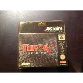 Nintendo 64 blister rigide turok 2 jeux video retro gaming