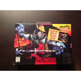 Super Nintendo blister killer instinct jeux video retro gaming
