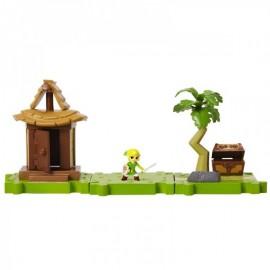 WORLD OF NINTENDO Playset Micro Figure Legend of Zelda The Wind Waker - Link + ILE DE L'AURORE