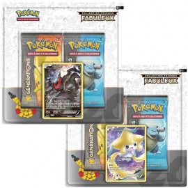Boosters Pokemon GENERATION pack 2 boosters + carte JIRACHI OU DARKRAI promo en francais