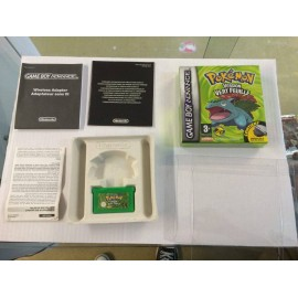 POKEMON VERSION VERT FEUILLE GBA boite + notice jeux game boy ADVANCE ou sp