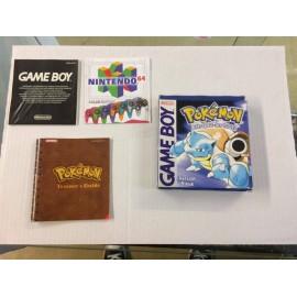 POKEMON VERSION BLEU GBA boite + notice jeux game boy ADVANCE ou sp