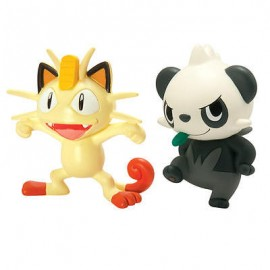 tomy figurine duo pack de 2 figure pokemon miaouss et pandespiegle