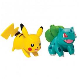 tomy figurine duo pack de 2 figure pokemon bulbizarre et pikachu