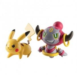 tomy figurine duo pack de 2 figure pokemon pikachu et hoopa