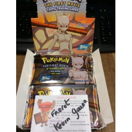 pokemon booster THE FIRT MOVIE TOPPS TRADING CARDS neuf sceller officiel MEWTWO