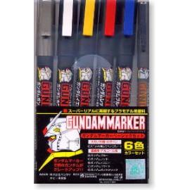 BANDAI GUNDAM FEUTRE Gundam Marker BASIX 6 COLOR Plastic Model Kit