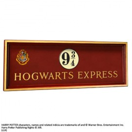 HARRY POTTER Plaque Poudlard express quai 9 3/4