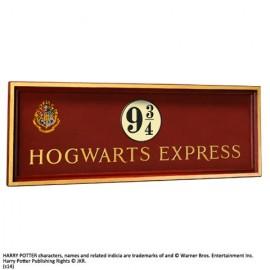 HARRY POTTER Plaque Poudlard express quai 9 3/4