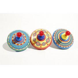 PETITE TOUPIE multicolore / JOUETS ANCIENS / retro / vintage