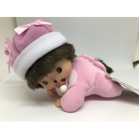 peluche kiki 16cm bebichhichi kiki bebe girl COUCHE ROSE SEKIGUCHI