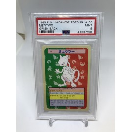 POKEMON 1995 japanese PSA9 topsun mewtwo green back mewtwo