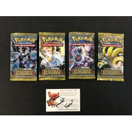 POKEMON LOT 4 BOOSTERS DESTINEES FUTURES NOIR ET BLANC