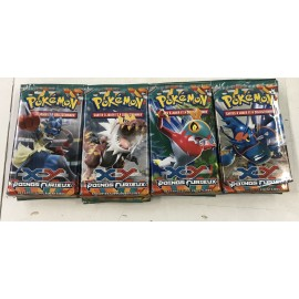 POKEMON LOT 4 BOOSTERS xy POINGS FURIEUX