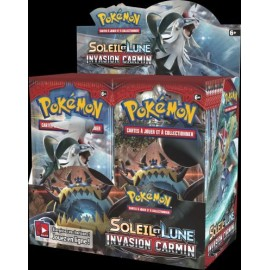 36 BOOSTER FRANCAIS Pokémon Soleil & Lune 4 INVASION CARMIN DISPLAY