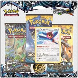 TRI PACK 3 BOOSTER pokemon EN FRANCAIS Soleil et Lune porygon-Z