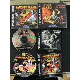 SEGA eternal champion + mickey mania francais mega-cd complet boite + notice