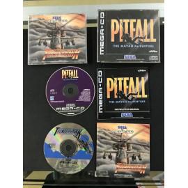 SEGA pitfall thunderhawk francais mega-cd complet boite + notice