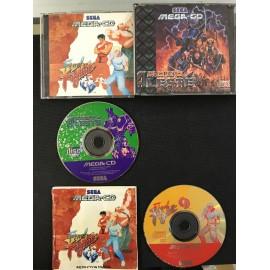 SEGA the amazing spider-man vs the kingpin / wolfchild francais mega-cd complet boite + notice