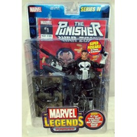 Marvel Legends Series 4 The Punisher blanc ceinture avec présentoir ToyBiz scellé