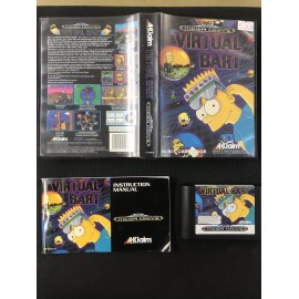 virtual bart Simpson Sega MEGA DRIVE COMPLET PAL BOITE + NOTICE