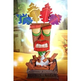 F4F first 4 figure Crash Bandicoot réplique 1/1 Aku Aku Mask 65 cm
