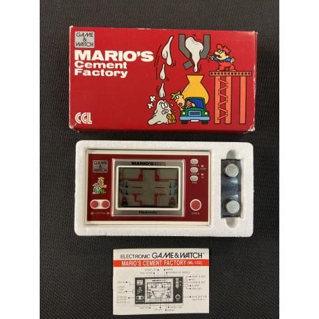 Nintendo Game & Watch Mario's Cement Factory ML-102 écran large portable LCD