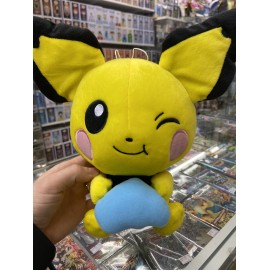 pokemon tomy peluche push pikachu officiel environ 28 cm