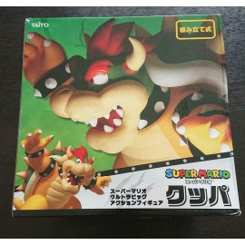 BOWSER SUPER MARIO Ultra BIG Figurine Taito Japan Limited objet Premium