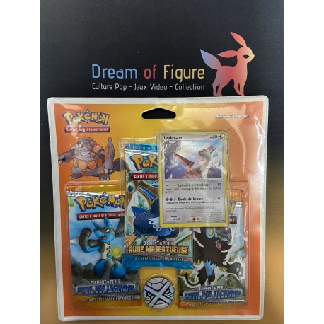 pokemon tri pack boosters francais heartgold soulsilver / platine hoothoot