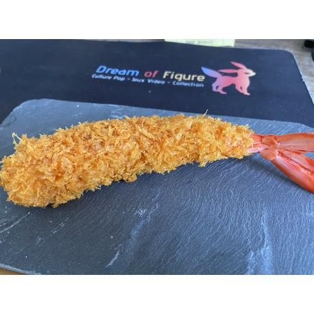 replique figure figurine crevette frie blanche
