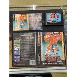 SEGA retro gaming gEnesis MEGADRIVE sonic 2 boite / notice