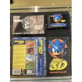 SEGA retro gaming MEGADRIVE sonic 3d boite / notice