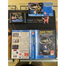 SEGA retro gaming gEnesis MEGADRIVE star trek deep space nine crossroads of time boite / notice