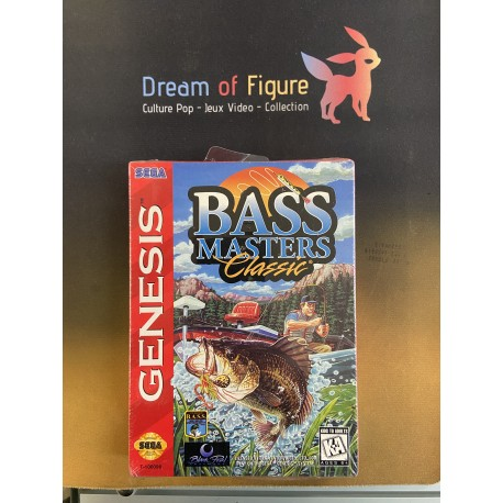 SEGA retro gaming gEnesis MEGADRIVE tnn outdoors BASS tournament 96 boite / notice