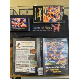 SEGA retro gaming MEGADRIVE world of illusion starring mickey mouse and donald duck boite / notice
