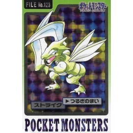 POKEMON Pocket Monsters Carddass Trading Cards no.123 Scyther INSECATEUR bandai