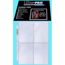 protectio 100 pages Ultra Pro 4 Pocket Platinum Pages Box idéal pour pca et psa pokemon magic dbs