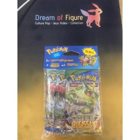 tri pack Boosters Pokemon RUPTURE turbo x2 + 1 impact des destins en francais
