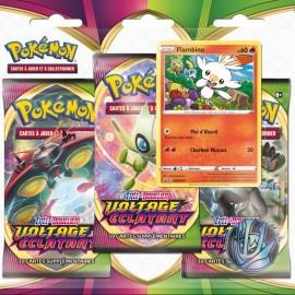 Tri pack Pokémon Pack 3 boosters Voltage éclatant ouistempo