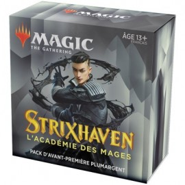 FRANCAIS Magic the Gathering Strixhaven l'Académie des Mages Pack d'Avant Première Plumargent