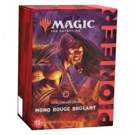 Wizards of the Coast - Magic the Gathering - Deck - Deck Challenger Pioneer 2021 - Mono rouge brulant (Français)