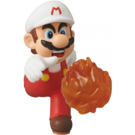 Nintendo mini figurine Medicom UDF série 2 Fire Mario New Super Mario Bros. U 6 cm